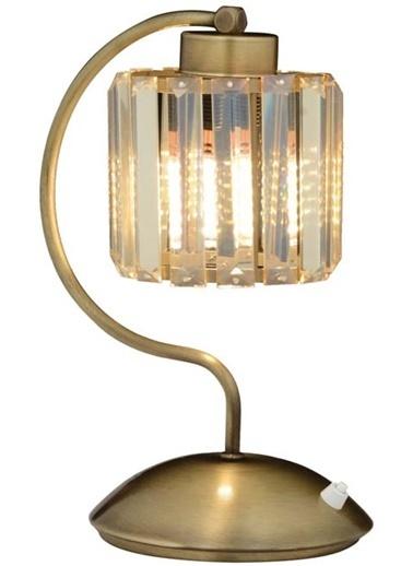 Avonni  ML-65244-1E Eskitme Kaplama Masa Lambası E27 Metal Kristal 20x25cm Renkli